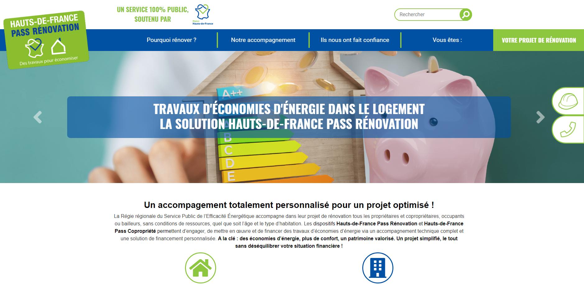 Nouveau site web  - Hauts-de-France Pass Rénovation