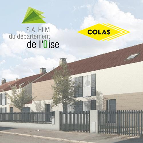Partenariat avec la S.A. HLM de l'Oise et l'entreprise COLAS pour faciliter la rénovation énergétique d'un ensemble de pavillons dans l'Oise - Hauts-de-France Pass Rénovation