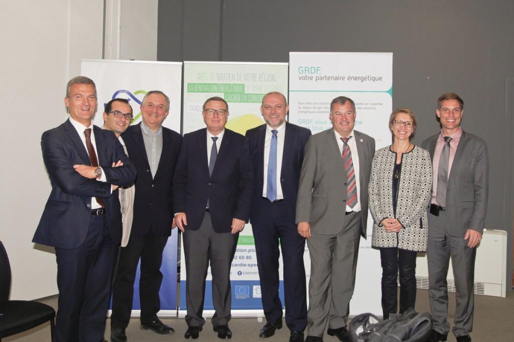 Nos partenaires rassemblés pour la signature d'une nouvelle convention de partenariat avec GrDF, le 14 octobre