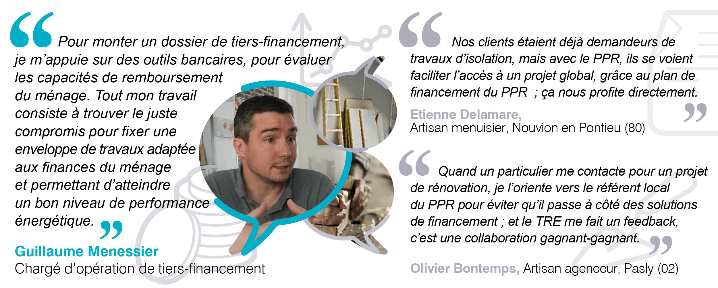 Chargée d'opération de tiers-financement et artisans du Picardie Pass Rénovation teimoiignen
